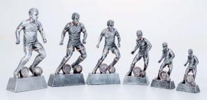 Pokale 6er Serie Fußballspieler Trophäe Resin 13,7 cm - 26,5 cm