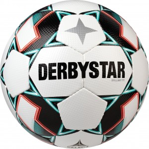 Ballpaket 10x Derbystar Fußball Brillant TT Handgenäht Gr.5