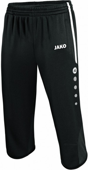 Jako 3/4 Trainingsshort Active Short schwarz/weiß 8395