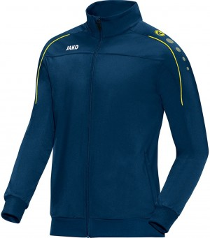 Jako Kinder Polyesterjacke Trainingsjacke Classico nightblue/citro 9350