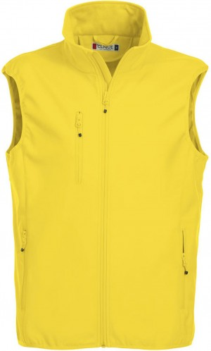 Clique Herren Basic Softshellweste Weste zitrone gelb