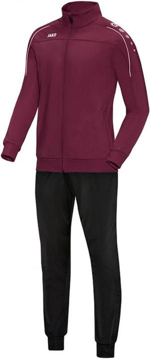 Jako Trainingsanzug Classico maroon Polyesteranzug Jogginganzug