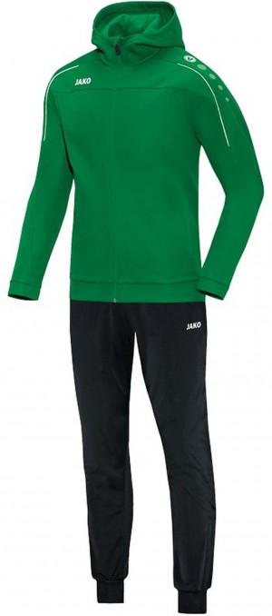 Jako Kinder Kapuzen Trainingsanzug Classico sportgrün grün Jogginganzug