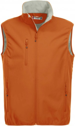 Clique Herren Basic Softshellweste Weste orange