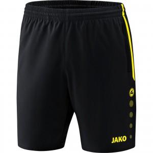 Jako Damen Sporthose Short Competition 2.0 schwarz/neongelb 6218