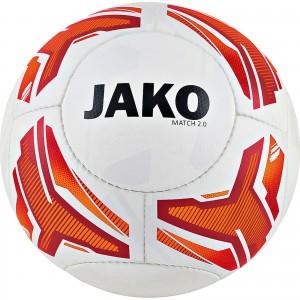 Jako Fußball Light Lightball Match 2.0 weiß/neonorange/rot Gr.5 290g