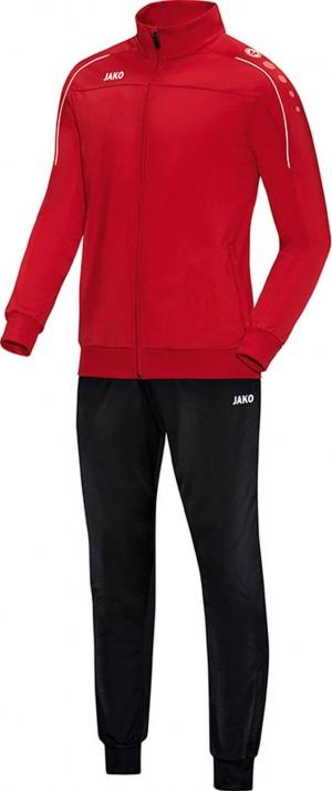 Jako Trainingsanzug Classico rot Polyesteranzug Jogginganzug