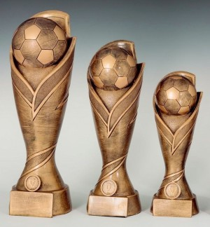Pokale 3er Serie Fußball Trophäe Pokal 27cm - 39cm