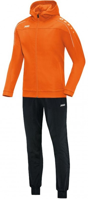 Jako Kapuzen Trainingsanzug Classico neonorange orange Jogginganzug