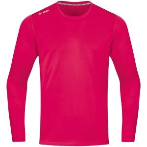 Jako Herren Laufshirt Longsleeve Run 2.0 pink 6475