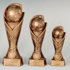 Pokale 3er Serie Fußball Trophäe Pokal 17cm - 27cm
