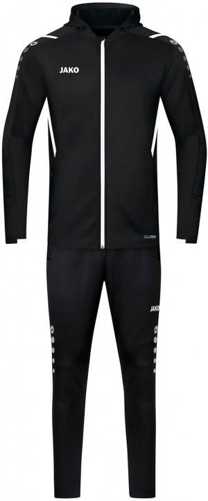 Jako Herren Trainingsanzug Challenge mit Kapuze schwarz/weiß M9421