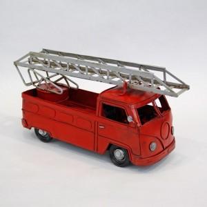 Modellauto Feuerwehrauto Feuerwehrbully Historisches Feuerwehrfahrzeug (nach Vorbild VW Bully)