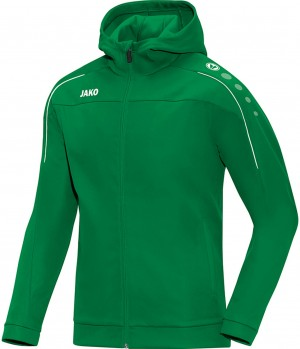 Jako Herren Trainingsjacke Kapuzenjacke Classico sportgrün grün 6850