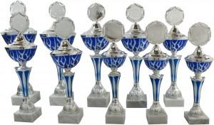 Pokale 10er Serie silber-blau 31cm bis 43cm