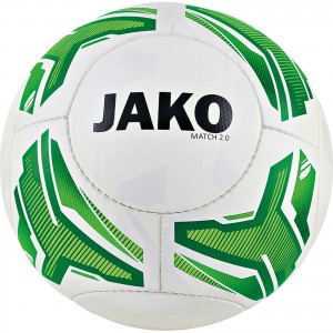 Jako Fußball Light Lightball Match 2.0 weiß/neongrün/grün Gr.4 290g