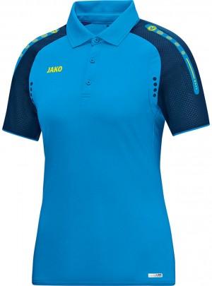 Jako Damen Poloshirt Polo Champ JAKO blau marine neongelb 6317