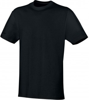 Jako Herren T-Shirt Team schwarz 100% Baumwolle 6133