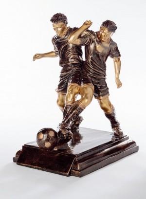 Fußball Pokal Trophäe 2 Fußballspieler mit Ball 39,5 cm