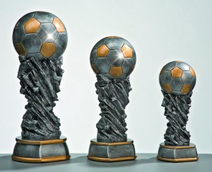 Pokale 3er Serie Weltpokal Trophäe Fußball Pokal 30cm - 45cm