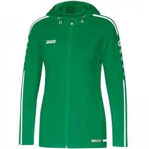 Jako Damen Trainingsjacke Kapuzenjacke Striker 2.0 sportgrün/weiß 6819