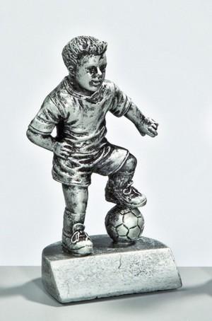 Fußball Trophäe Fußballjunge Figur 11 cm incl. beschrifteter Aufkleber