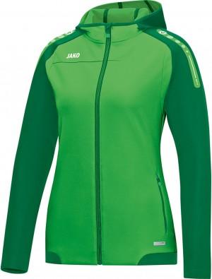 Jako Damen Jacke Gr.36 Trainingsjacke Kapuzenjacke Champ soft green sportgrün grün 6817