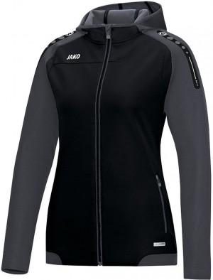 Jako Damen Jacke Trainingsjacke Kapuzenjacke Champ schwarz anthrazit 6817