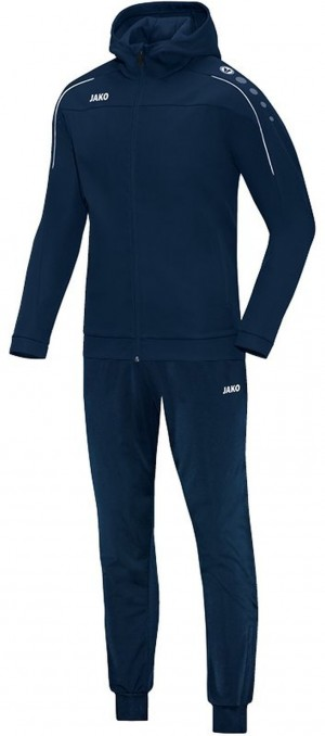Jako Kinder Kapuzen Trainingsanzug Classico marine blau Jogginganzug