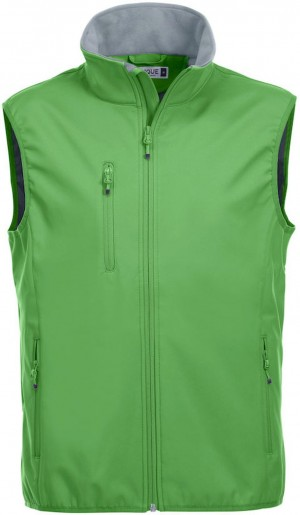 Clique Herren Basic Softshellweste Weste apfelgrün grün