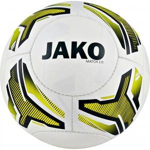 Jako Fußball Light Lightball Match 2.0 weiß/neongelb/schwarz Gr.3 290g