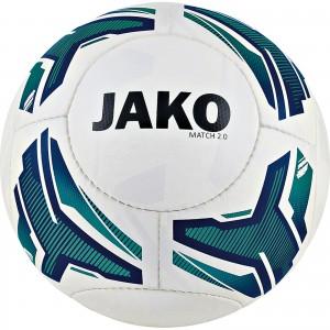 Jako Fußball Light Lightball Match 2.0 weiß/türkis/marine Gr.5 350g