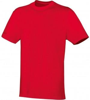 Jako Herren T-Shirt Team rot 100% Baumwolle 6133