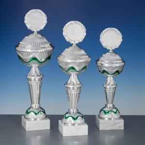 Pokale 3er Serie silber-grün Anica