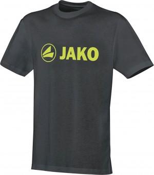Jako Baumwolle T-Shirt Promo anthrazit/lime 6163