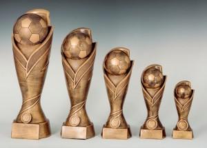 Pokale 5er Serie Fußball Trophäe Pokal 17cm - 39cm