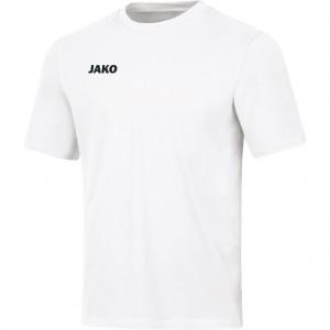 Jako Herren Baumwolle T-Shirt Base weiß 6165
