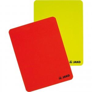 Jako Karten-Set Schiedsrichter rot/gelb 2164
