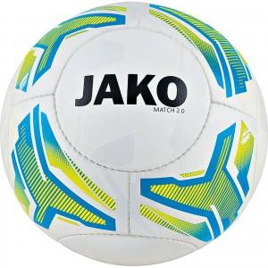 Jako Fußball Light Lightball Match 2.0 weiß/neongelb/JAKO blau Gr.4 350g