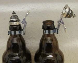 Bierflaschen Spitzdeckel Zinn Flaschendeckel Zinndeckel spitz