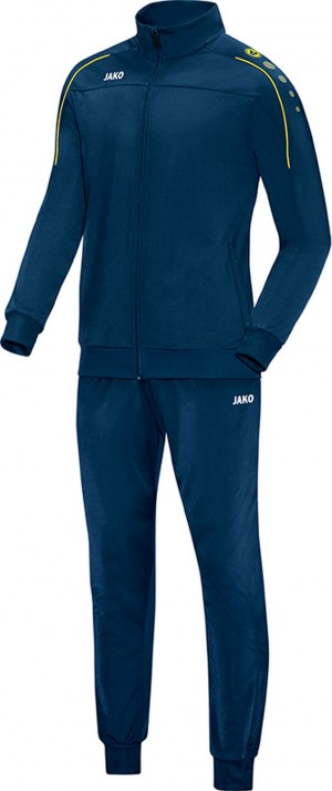 Jako Trainingsanzug Classico nightblue/citro Polyesteranzug Jogginganzug