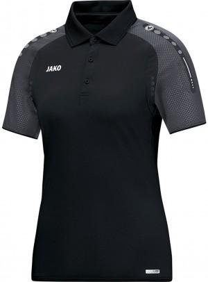 Jako Damen Poloshirt Polo Champ schwarz anthrazit 6317 Gr.42/44