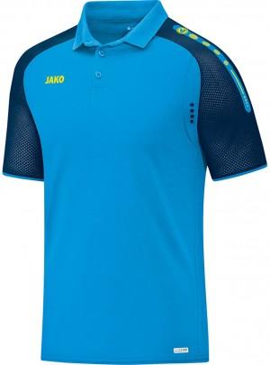 Jako Herren Poloshirt Polo Champ JAKO blau marine neongelb 6317