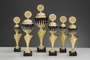 Pokale 6er Serie gold-schwarz Tamara