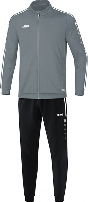 Jako Trainingsanzug Striker 2.0 steingrau/weiß M9119