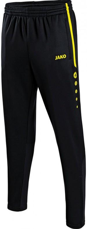 Jako Kinder Jogginghose Trainingshose Active schwarz/neongelb ohne Bündchen 8495