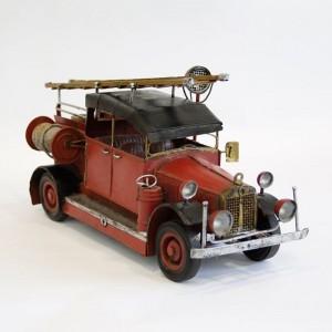 Modellauto Feuerwehrauto Leiterwagen Historisches Feuerwehrfahrzeug