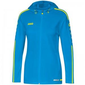 Jako Damen Trainingsjacke Kapuzenjacke Striker 2.0 JAKO blau/neongelb 6819
