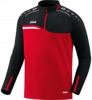 Jako Kinder Sweatshirt Ziptop Competition 2.0 rot/schwarz 8618