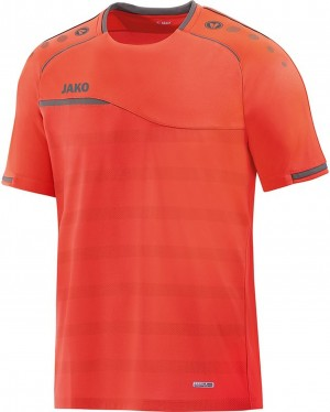 Jako Herren T-Shirt Prestige flame/steingrau 6158